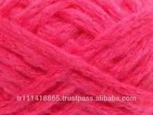 fancy soft fluffy pink knitted yarn acrylic