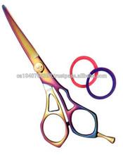 """Rainblow Titanium Plated Barber Scissor 6"""""""