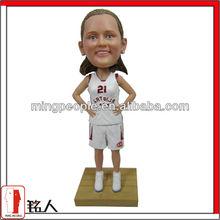 customized sport bobblehead for basketball girl