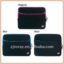 2014 Best sell fashion custom neoprene laptop sleeve without zipper