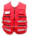 DFW-072 TC twill fabric safety red workwear vest