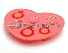 diamond ring shape silicone chocolate mould