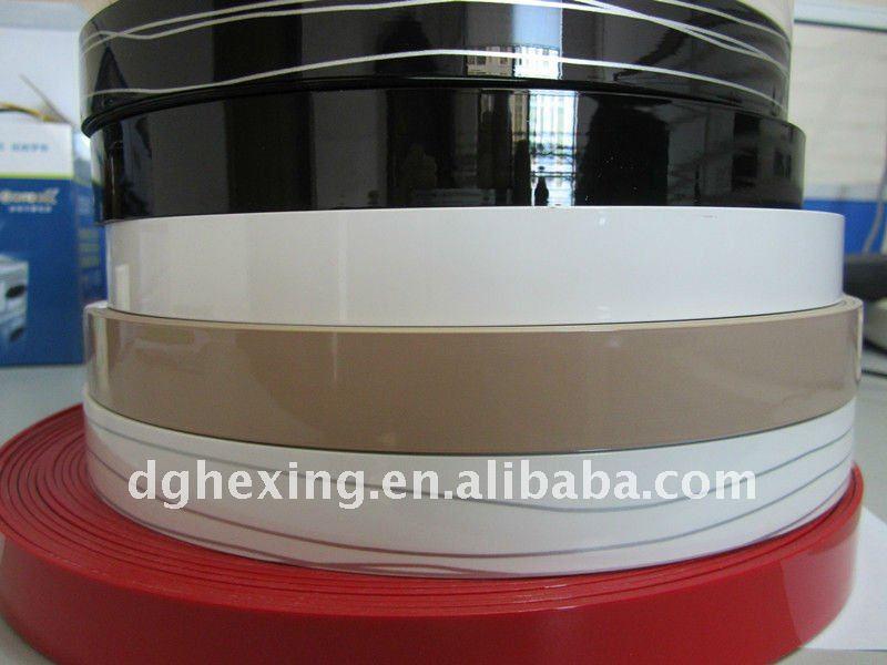 Rehau pvc high gloss edge banding with black color
