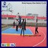 Anti-slip/Anti-agging/ Anti-ultraviolet radiation and multi-purpose interlocking modular suspended plastic basketball floor tile