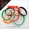 Promotion gift eco-friendly colorful personalized silicone bracelets / mix color silicone bracelets
