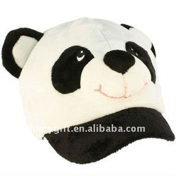 plush panda cap &amp; hats(OEM is welcome) stuffed toys