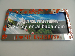 chrome plastic custom license plate frames