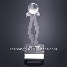 crystal sporting trophy crystal basketball/football award