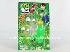 Plastic spinning top Ben10 toys,shoot gun toy