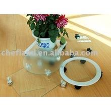 Tempered Glass Flower Rack