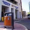 Outdoor Metal Rubbish Bin for City Street Avenue