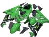 full motor fairing for 07-08 kawasaki zx6r ninja fairings body kits/bodywork/body frame cover green black