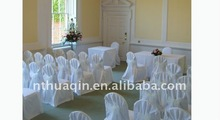 100% polyester banquet chair cover with organza sash and chair cover for wedding