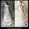 MY002 2012 Real Samples Wholesale Ruffle Bridal Wedding Dresses Professional Handcraft OEM