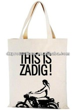 fashion promotional cotton bag/cotton bags design