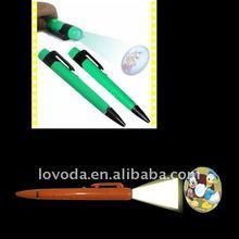 2012 hot promotional gifts / led logo projector pen JFP-053 led advertising pen
