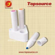 Hot Sale Mini Cheap Super Portable Pocket Desk Plastic School Kids Cute Highlighter Marker Ball Pen for promotion
