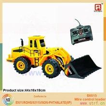 colore giallo rc 6ch escavatore giocattolo di plastica modelli