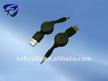 stereo 3.5mm to usb converter retractable cable