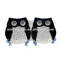 Halloween owl decorative bulk plate ceramic