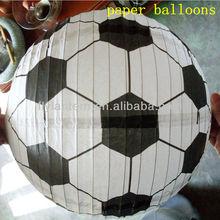2014 most popular decoration round football handicraft paper balloons wholesale