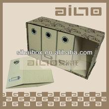 decorative expandable A4 size cardboard paper file folder holder