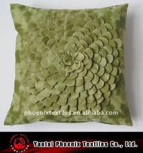 luxury velvet 3d flower cushion