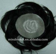 Drop shipping Indian Man's toupee, indian men hair toupee wig indian remy human hair toupee / wig for men