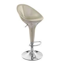modern adjustable swivel middle back ABS bar stool