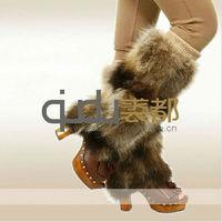 QD11593 raccoon fur leg warmer