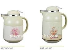 1.0L metal casing ,glass inner tea jug coffee pot 300
