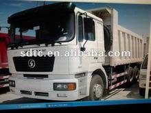 white Shacman 6x4 tipper truck