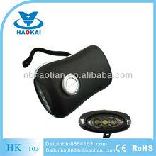 rechargeable 3LED dynamo hand crank up flashlight/dynamo flashlight