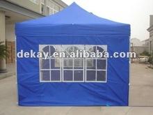 3x3 hexagonal de acero marco de laiglesia de la ventana y la puerta plegable canopy tienda gazebo