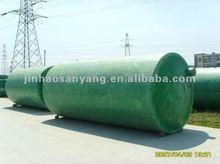 Glass fiber reinforced plastic septic tank for sewage treatment