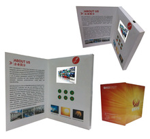 video and music and photo greeting brochure with 4.3 inch screen