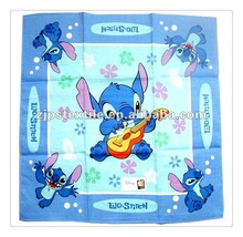 Cheap wholesale 100% cotton printing cartoon handkerchief