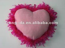 Fancy Heart Feather Cushion