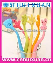 Creative expressional finger shape rubber pen soft finger shape pen