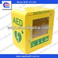 venta caliente de metal aed desfibrilador gabinete gabinetes con alarma y el mejor precio
