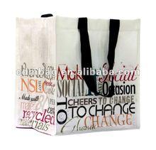 2012 pp non woven white bottle bag