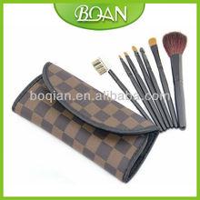 7 Pcs Makeup Fan Brush Set Cosmetic Goat Facial Makeup Brush Kit Bag