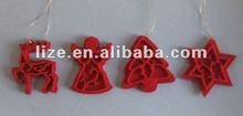 laser cut felt Christmas tree decoration/deer angel tree star