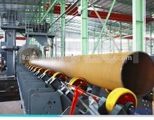 QGW steel tube shot blasting machine, pipe descaling equipment