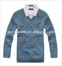 2012 popular V-type collar men's whorl woolen sweater