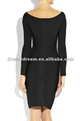 Tight Black Dress on Tight Black Long Sleeve Bandage Dress With Spandes Rayon Legerity