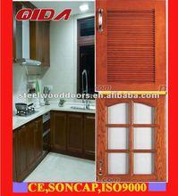 kitchen cabinet panelspvc skin or natural wooden skin)F-KD004