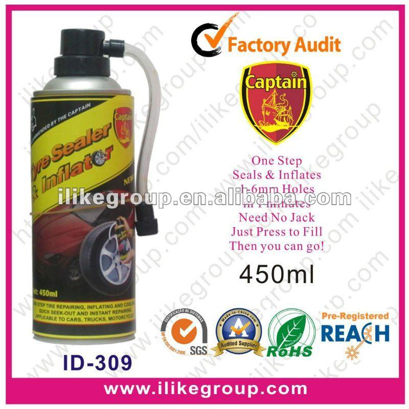Aerosol Emergency Flat Tire/Tyre Sealant and Inflator 450ml