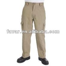 Mens Industrial Heavy Cotton Drill Cargo Pants Workwear Designer Khaki Cargo Trousers