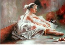 2012 Best price for ballerina oil painting